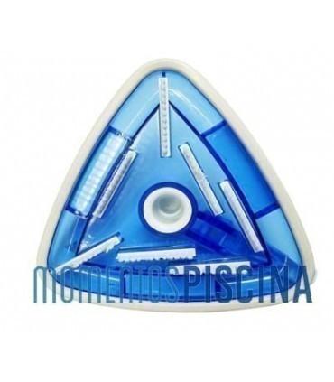 Limpiafondos manual triangular con paragolpes