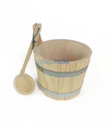 Cucharón de madera para sauna