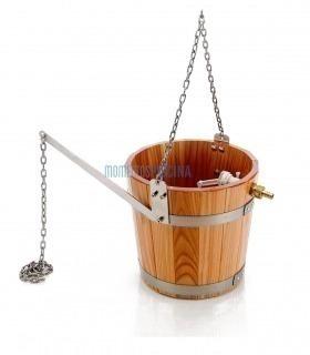Cubo madera para ducha diluvio