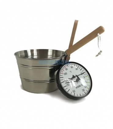 Kit sauna metálico con termohigrometro