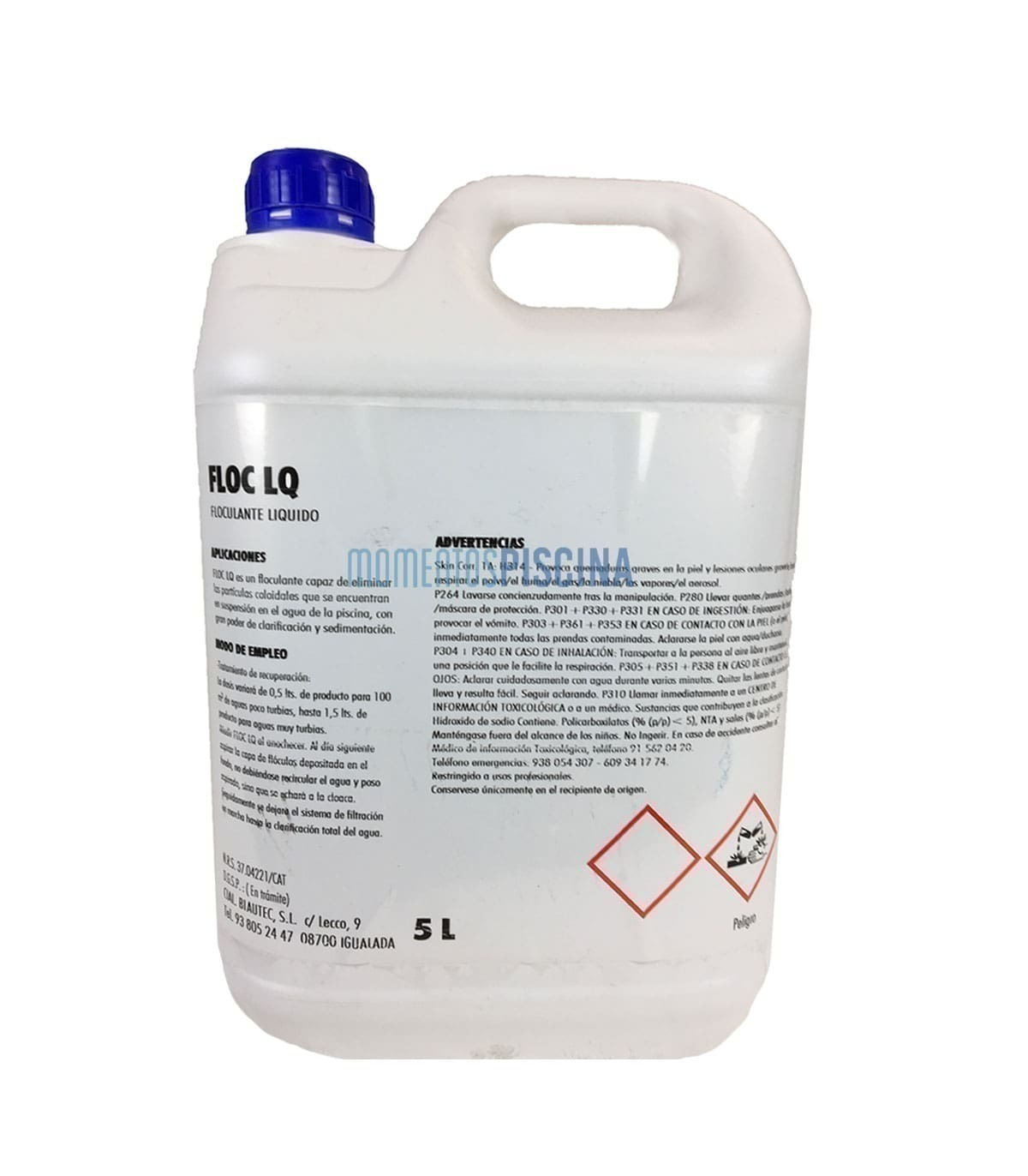 Flocculant liquid FLOC LQ 5L