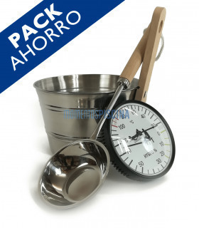 PACK sauna stainless with thermohygrometer