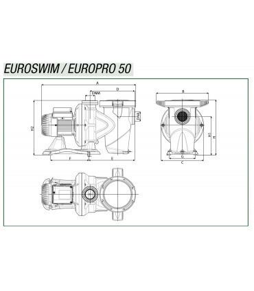 Pump DAB Euroswim 50 1/2 HP M