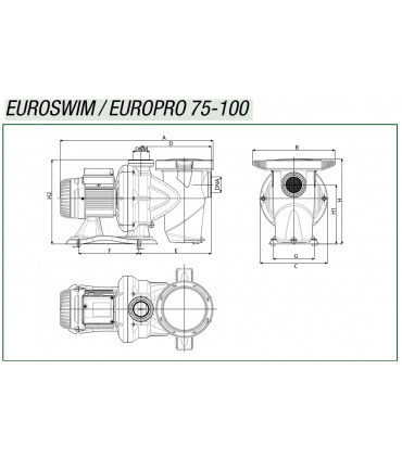 Pompe DAB Euroswim 75 3/4 HP M