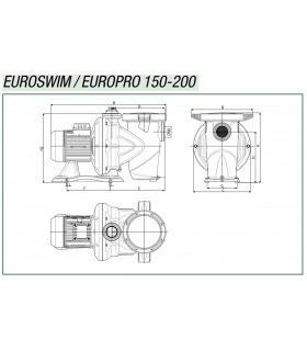 Monoblock Filtro Rubí D400 mm con bomba QP Bravia