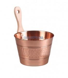 Cubo sauna de cobre