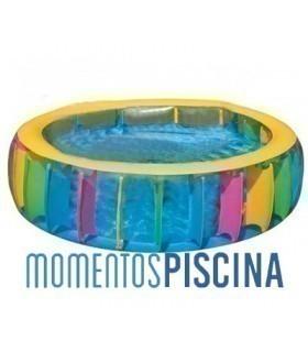 Piscina hinchable multicolor +6