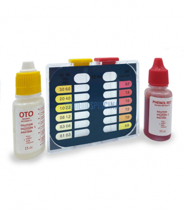 Kit d'analyse chlore, brome et pH