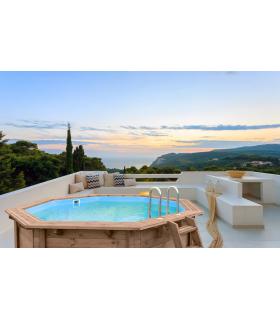 Wooden aboveground pool Tropical Sunshine