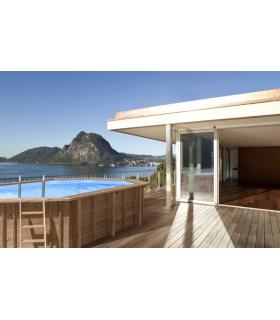 Above ground wooden pool Ocean Wave