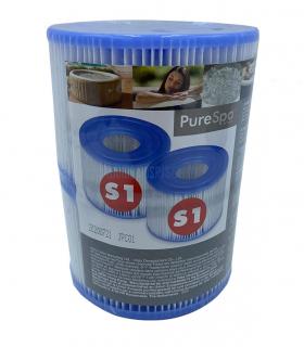 Pack 2 cartridges filter Spa type S1 Intex