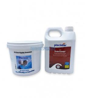 Liner and saline electrolysis pool hibernation PACK