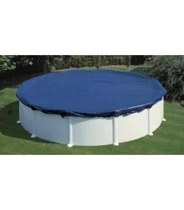Cubierta piscina GRE redonda protección invierno