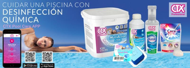 Productos CTX para el mantenimiento de la piscina