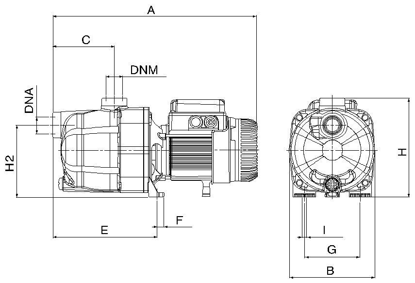 Dimensiones Bomba DAB Jetcom 102 SP T