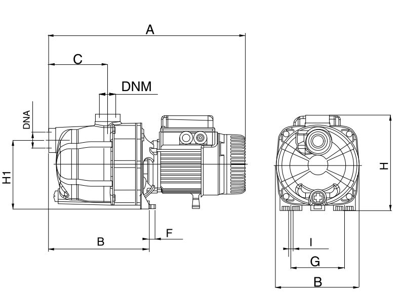 dimensiones dab eurocom sp 40/50 t