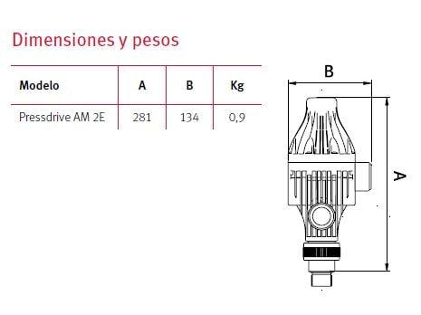 Dimensiones Pressdrive