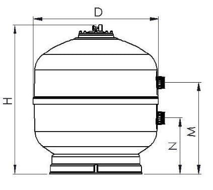 dibujo dimensiones filtro TC
