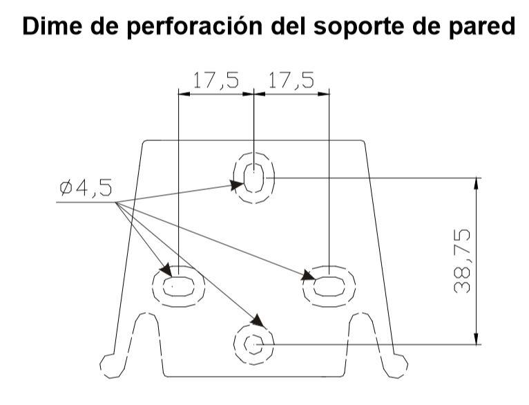Dimensiones perforación Bomba dosificadora SEKO KOMPACT AML 200